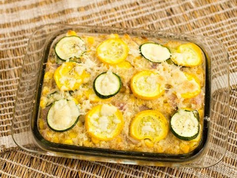 Zucchini, Squash And Corn Casserole/ Continental Recipes