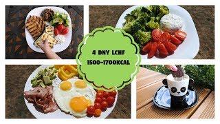 Čtyři dny plné jídla | LCHF | Nízkosacharidový jídelníček | 1500-1700kcal