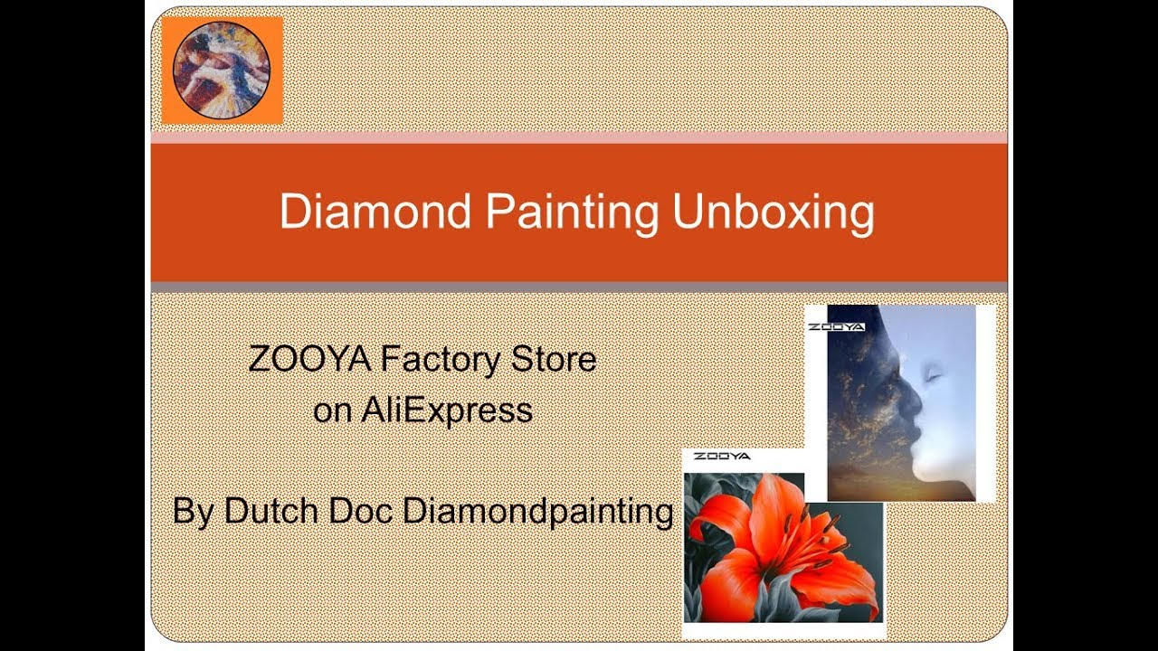 Diamond Painting Unboxing -- AliExpress -- ZOOYA Factory Store