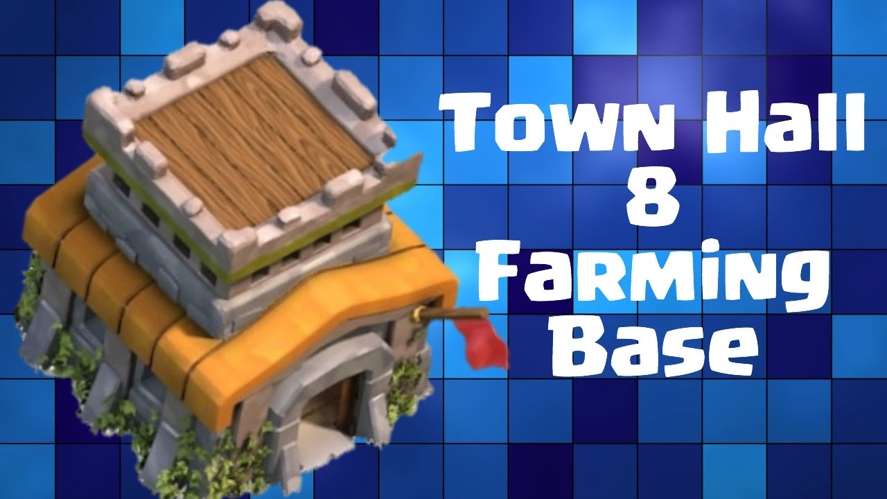Of clans th8 farming base quot southern teaser quot w 4 mortars youtube
