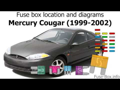 2001 cougar fuse diagram fuse box location and diagrams mercury cougar  1999 2002  youtube  fuse box location and diagrams mercury