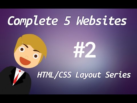 Learn HTML & CSS Complete 5 Websites : Tutorial-2
