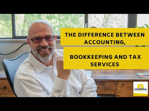 The Difference Between Accounting, Bookkeeping and Tax Services