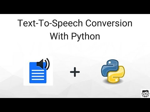 Converting Text-To-Speech Using Python (gtts Module) - YouTube