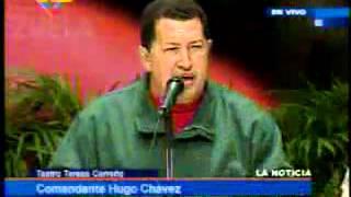 31 May 2008 Hugo Chávez en encuentro del PSUV en el Teatro Teresa Carreño