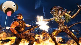 Marines Fighting ALIENS HIVE Alien vs Predator Extinction Gameplay