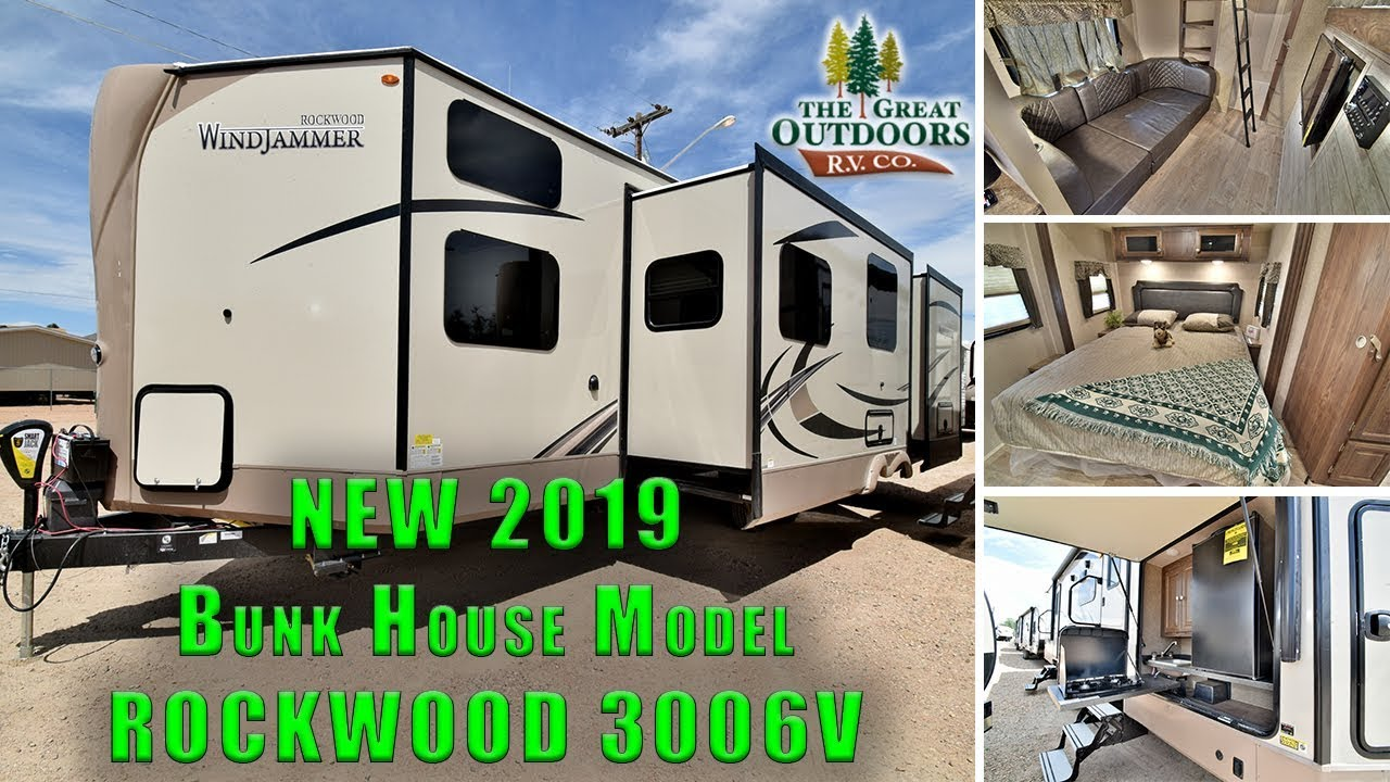 Best Bunkhouse Travel Trailer 2019 New 2019 ROCKWOOD 3006V Bunkhouse Model Outside Kitchen Travel