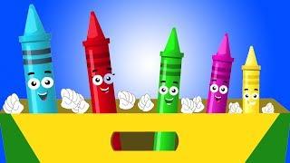 мелки палец семья | ребенок песня | Рифма для детей | Preschool Song for Kids | Crayon Finger Family