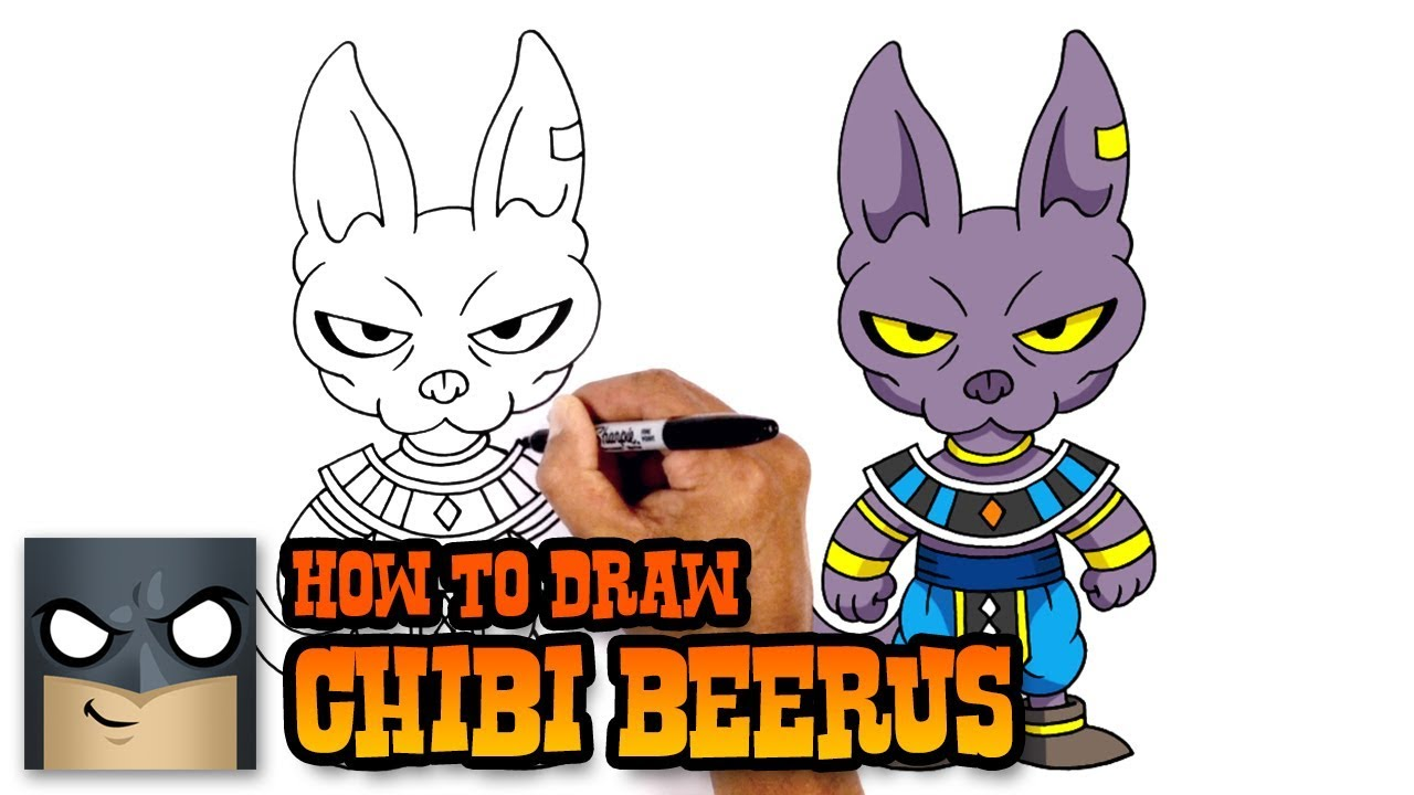How To Draw Beerus Dragon Ball Z Youtube