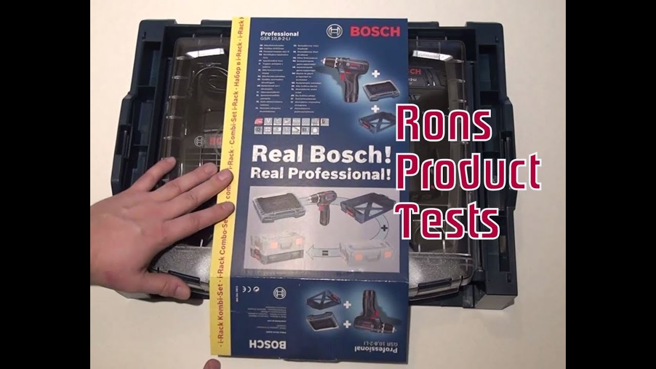 bosch professional gsr 10 8 2 li akku bohrschrauber unboxing deutsch test akkuschrauber. Black Bedroom Furniture Sets. Home Design Ideas