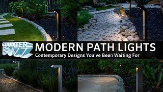 modern path lights for outdoor landscape lighting