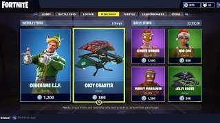 FORTNITE LIVE ITEM SHOP COUNTDOWN! CODENAME E.L.F RETURNING! (FORTNITE LIVE ITEM SHOP)