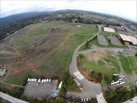 Drone over Stanford Linear Accelerator