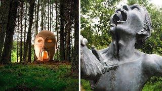 55 загадочных статуй, найденных в лесу