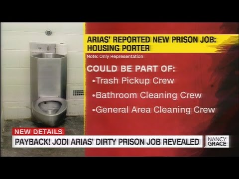 Jodi Arias' Job in Prison as Janitor Cleaning Toilets (at 10 cents per hour)