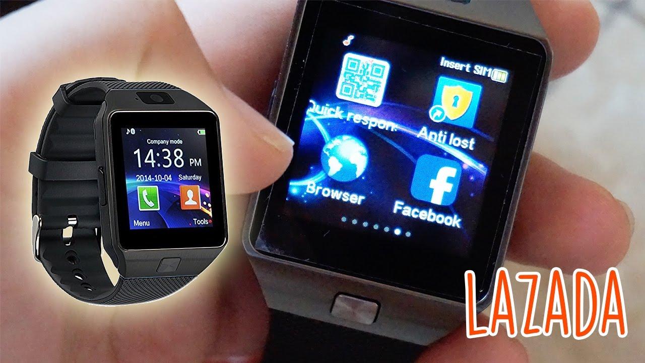 2a27403ffee Lazada Smart Watch DZ09 Review - YouTube