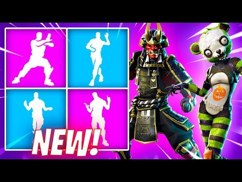 *NEW* Fortnite Leaked Emotes/Skins..! (Crazy Feet, Shogun Skin, Spooky Team Leader) - PATCH 6.21