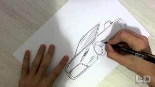 Como desenhar um carro em 5 minutos   How to draw a car in 5 minutes   10Youtube com