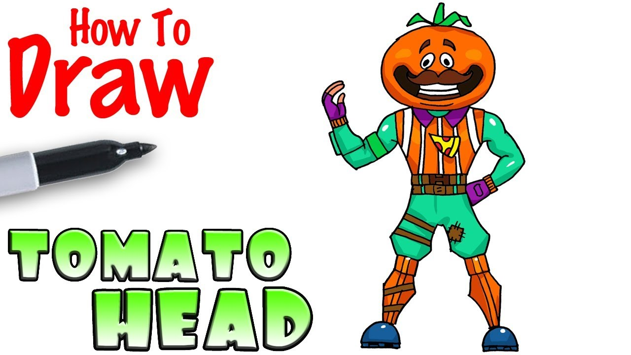 How To Draw Tomato Head Fortnite Youtube