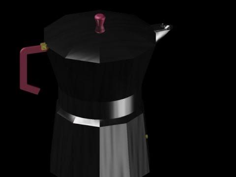 Modélisation 3D ' cafétière' AutoCAD