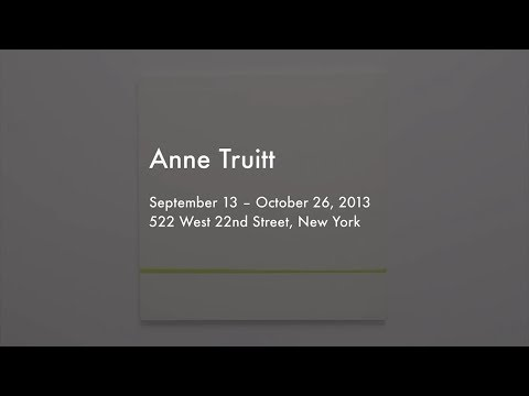 Anne Truitt: Threshold - Works from the 1970s