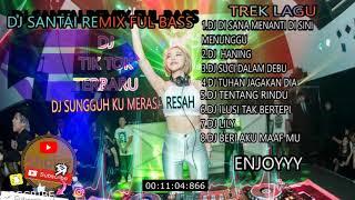 DJ DI SANA MENANTI DI SINI MENUNGGU |DJ HANING|DJ TIK TOK|-REMIX FULL BAS