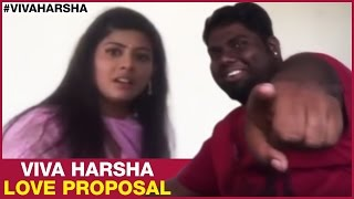 Most Awkward Love Proposal Ever | Viva Harsha | Funny Prank on Actress