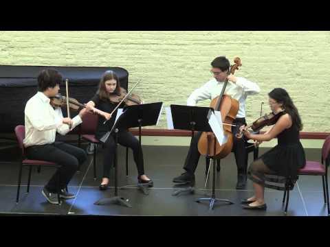 Chicago Chamber Music Workshop Final Concert - Mendelssohn - Quartet #1