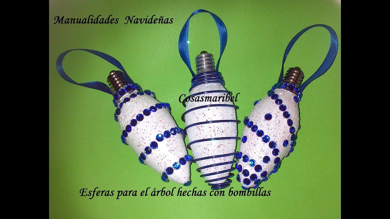 Adornos navide os esferas para el rbol hechas con - Adornos para el arbol ...