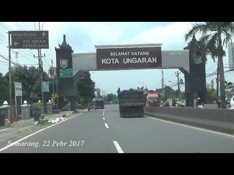 Dari Bawen melewati KOTA UNGARAN Kabupaten Semarang Jawa Tengah