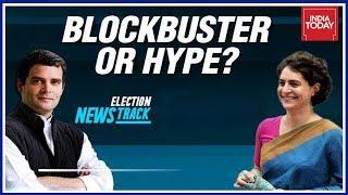 Sibling Revelry Seen As Rahul Gandhi Accompanies Priyanka On Maiden Roadshow | Election Newstrack