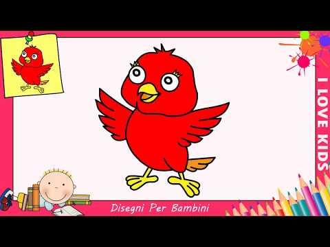 Come Disegnare Un Uccello Facile Passo Per Passo Per Bambini 3