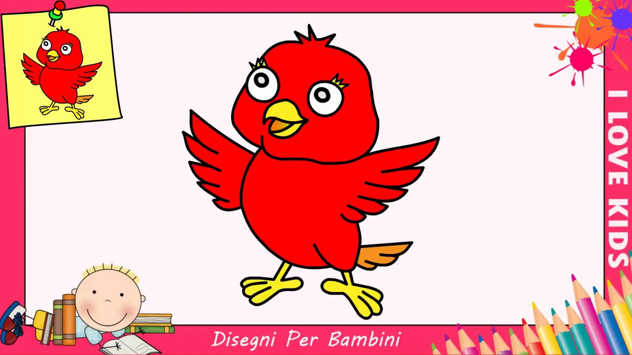 Come Disegnare Un Uccello Facile Passo Per Passo Per Bambini 3 Youtube