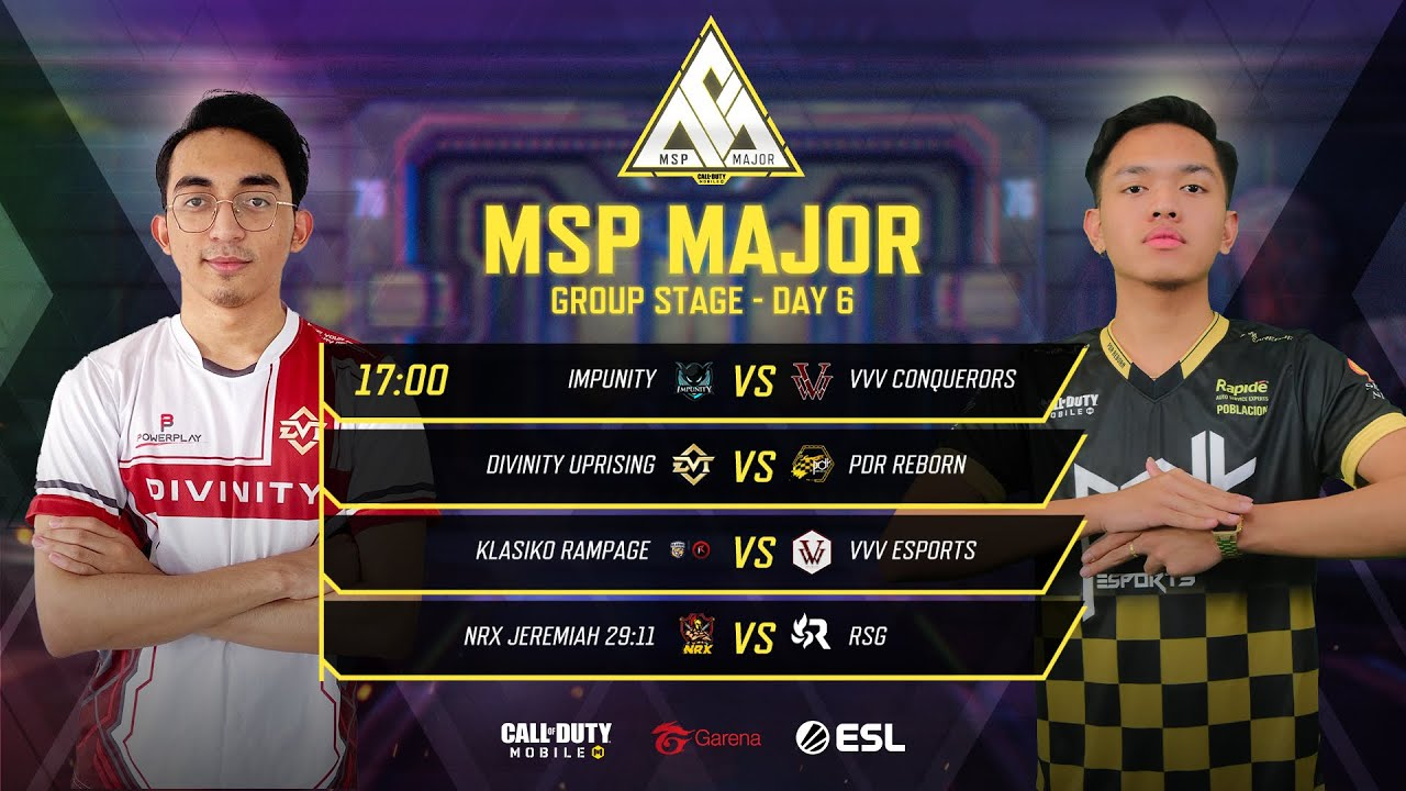 MSP Major: Group Stage - Day 6 - Garena Call of Duty Mobile