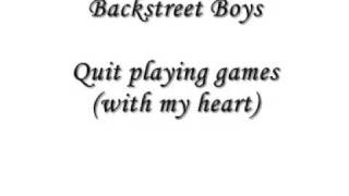 Backstreet Boys: Quit playing games with my heart (full CD quality)