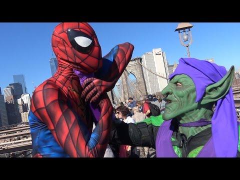 SPIDER-MAN vs GREEN GOBLIN on the Brooklyn Bridge!