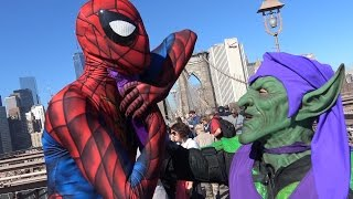 SPIDER-MAN vs GREEN GOBLIN on the Brooklyn Bridge!