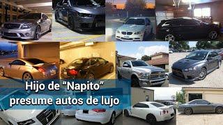 """Los 31 autos de lujo del hijo de """"Napito"""""""