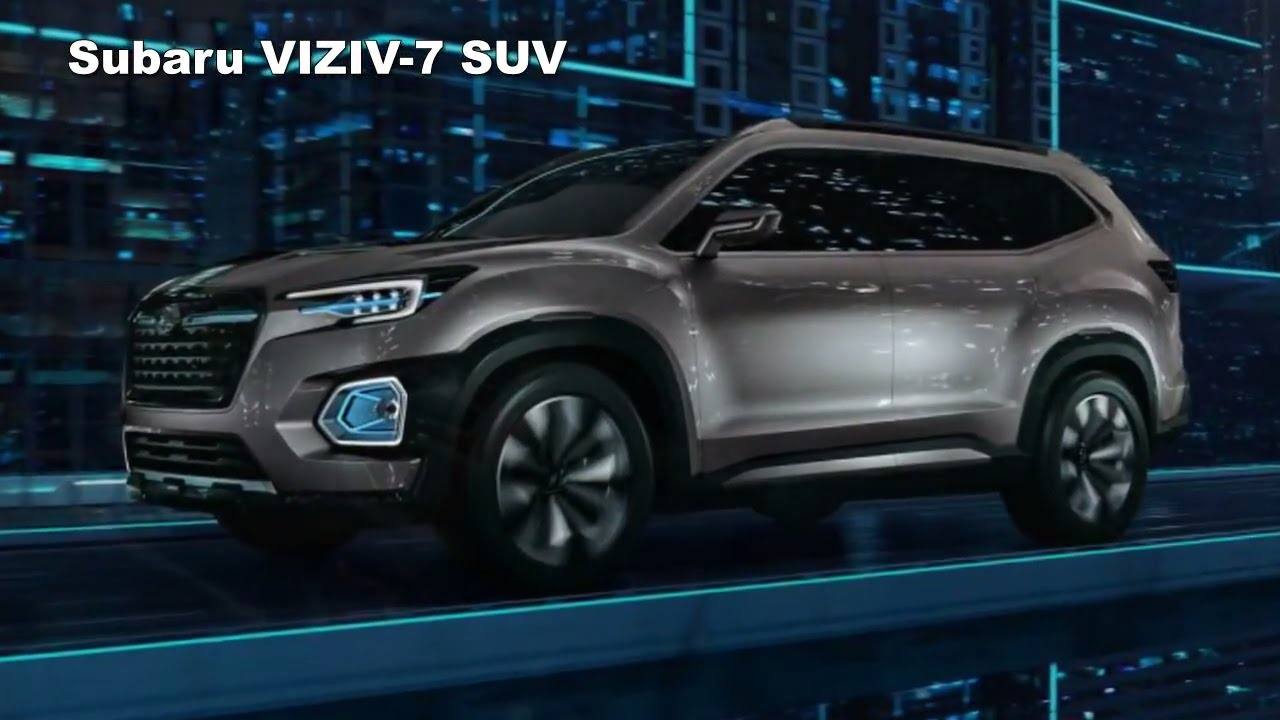first look 2018 subaru viziv 7 concept preview new midsize suv for 2018 youtube. Black Bedroom Furniture Sets. Home Design Ideas