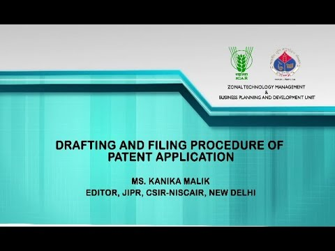 Drafting and Filling Procedure of Patent Application