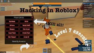 Hacking In Roblox Prison Life!!! - Protosmasher Hacks