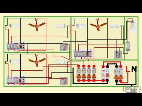 Complete Electrical House Wiring Diagram Youtube