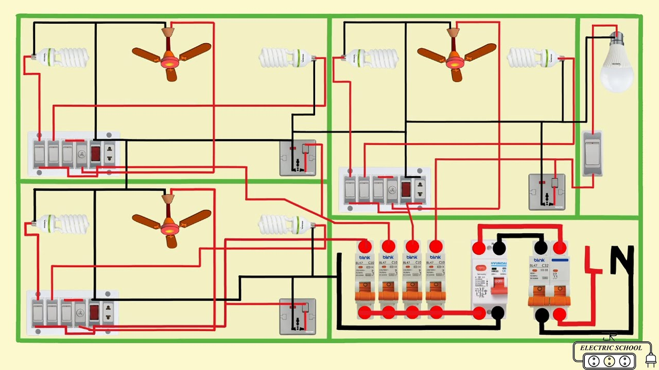 complete electrical house wiring diagram - YouTubeYouTube
