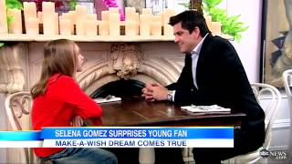 Selena Gomez Meets A Special Little Girl for Make-A-Wish Foundation