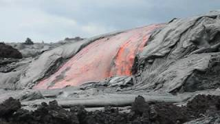 Kilauea Lava Flow Oct 8, 2008
