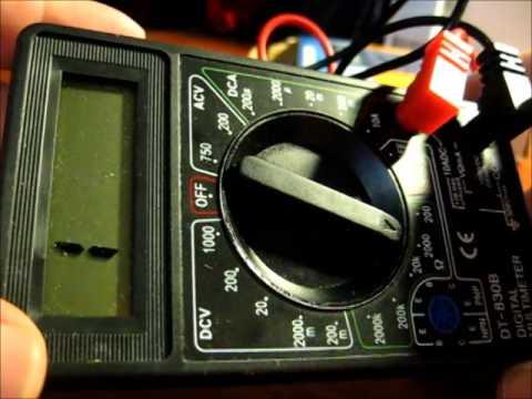 Как измерять мультиметром DT-830B