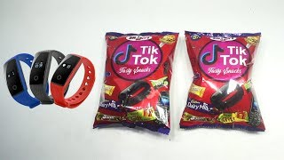 Omg Got Fitness Band Inside Tik Tok Snacks as Gift