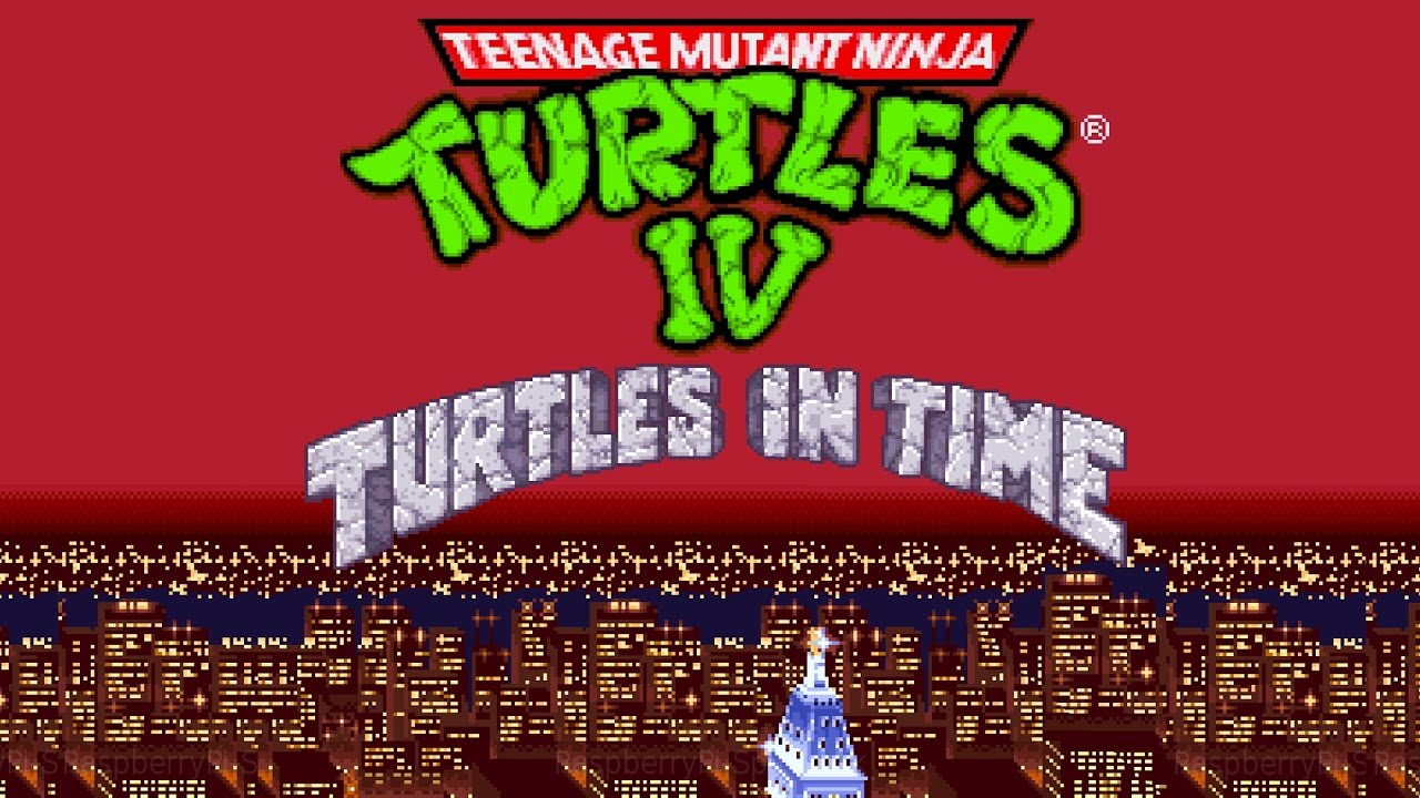 TMNT IV Turtles in Time - SNES Intro - YouTube
