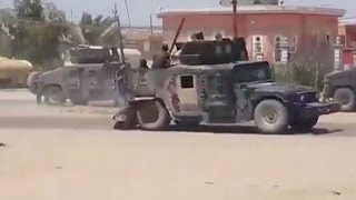 Isis: Video shows Iraqi forces fleeing Ramadi after Islamic State militants capture city