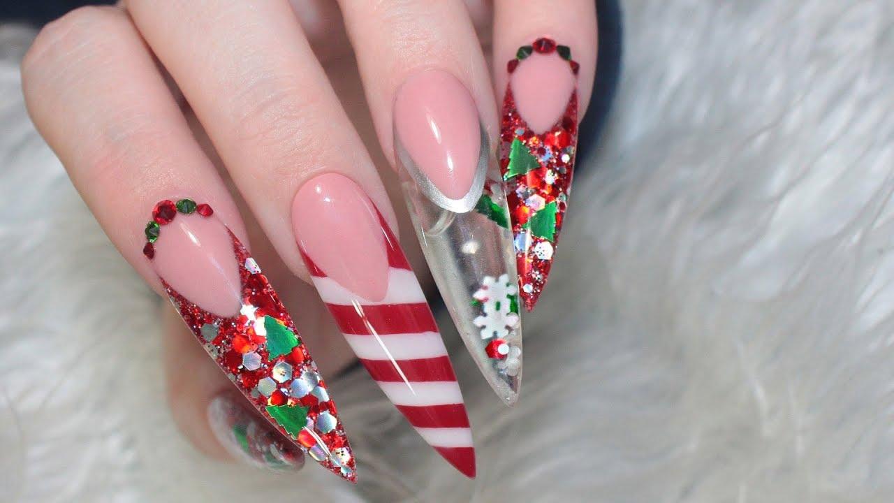 Acrylic Nails Christmas.Notpolish Christmas Aquarium Acrylic Nails